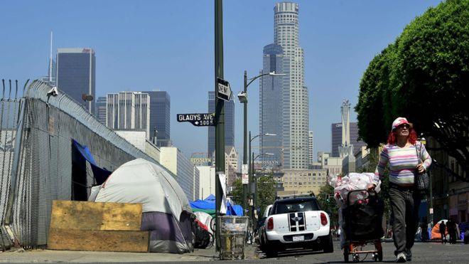 Moradores de rua em Los Angeles