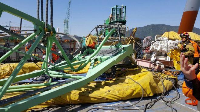 Samsung crane collapse kills six workers