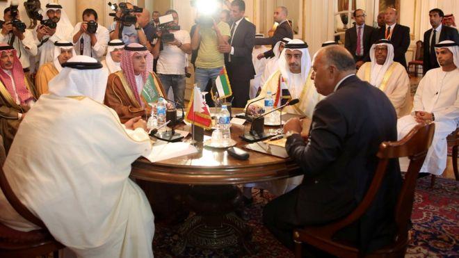 اجتماع وزراء خارجية الدول الأربعة في القاهرة