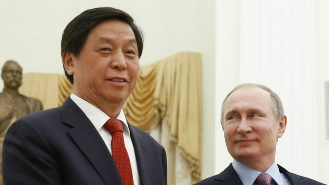 li zhanshu(left)