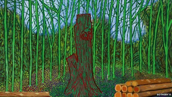 David Hockney painting auctioned for more than £3m - BBC News
