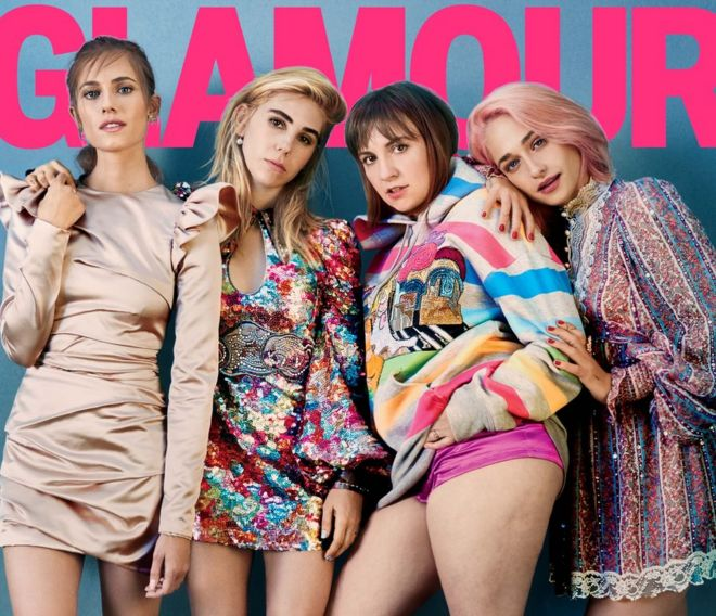 http://www.bbc.com/news/entertainment-arts-38521025Glamour Magazine cover featuring Lena Dunham and the cast of Girls