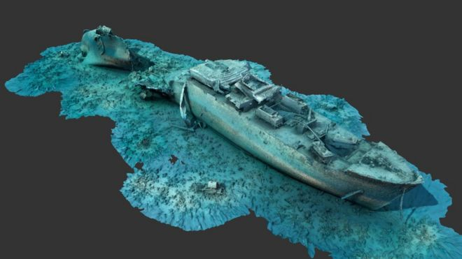 New 3D images of one of the world's best known World War Two dive sites have been released to the public.