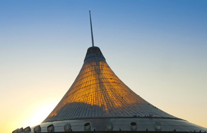 Khan Shatyr Entertainment Centre in the Astana Kazakhstan & Tallest tent in the world opens in Kazakhstan - BBC News