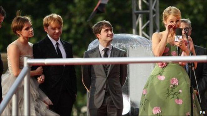 Image result for Emma Watson & J.K. Rowling Get Emotional At Final 'Harry Potter' Premiere