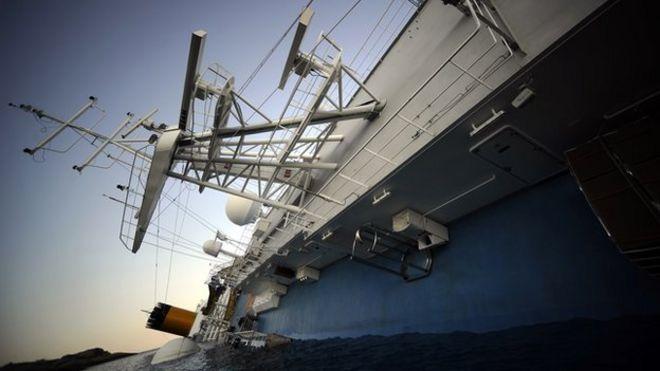 Sunken Cruise Ship May Still Hold Survivors CBBC Newsround - Sunken cruise ships