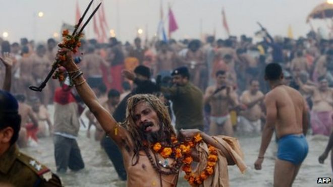 kumbh mela dip raised ganges river pollution news bathing at sangam on 14 2013