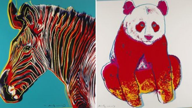 Andy Warhol Endangered Species prints up for auction - BBC News