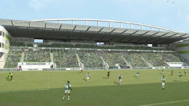 Image Caption Images Of The 50m Redevelopment Include A New South Stand At Plymouth Argyles Home Park Ground