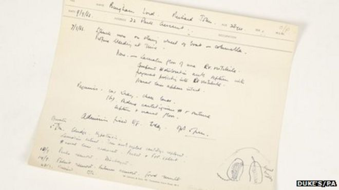 Lord Lucan medical notes