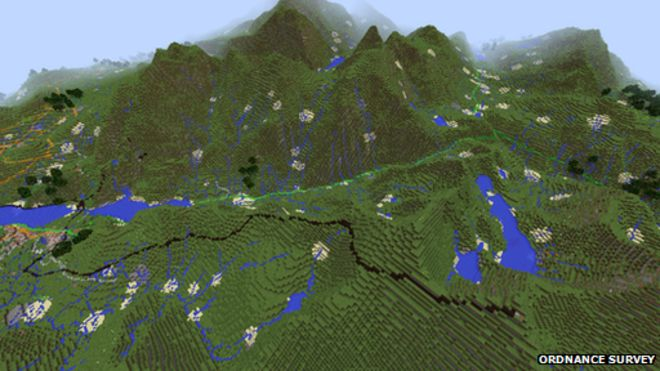 Minecraft Map Of The UK Upgraded To Include Houses BBC News - Terrain map uk