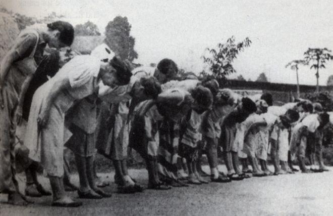 Asian girl prisoners of war