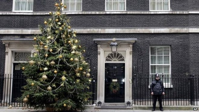 Christmas tree outside Downing Street