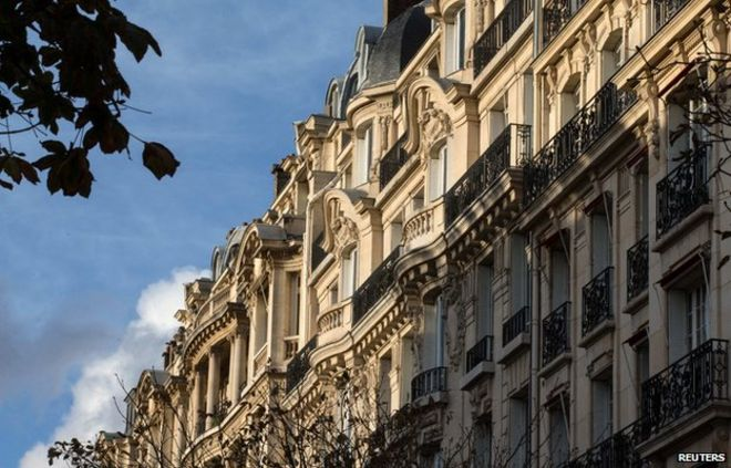A View Shows Apartment Buildings In Paris November 4, 2014