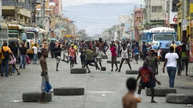 Haiti Clashes In Protest Over The High Cost Of Fuel Bbc News