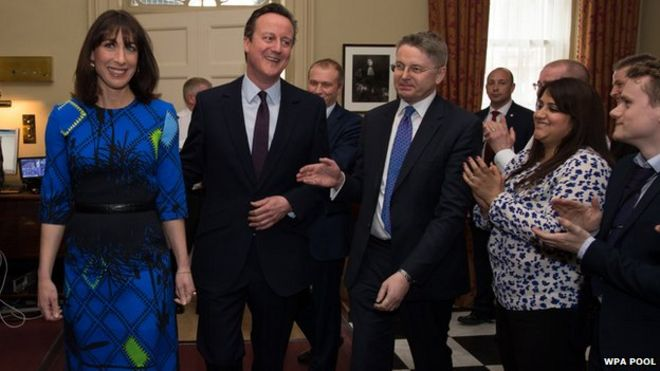David Cameron working out his first all-Tory cabinet - BBC News