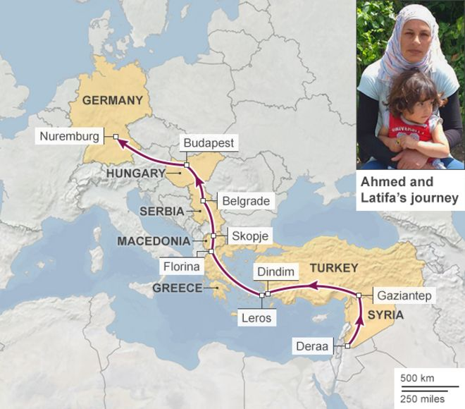 Who are the Mediterraneans migrants BBC News – Germany Map Distances