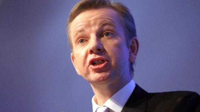 Michael Gove, former education secretary, now justice secretary