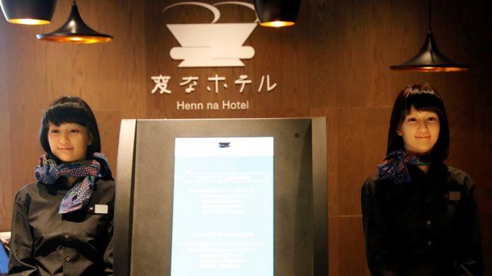 โรงแรมเฮ็นนะ ในกรุงโตเกียว นำหุ่นยนต์มาให้บริการแขกที่เข้าพัก