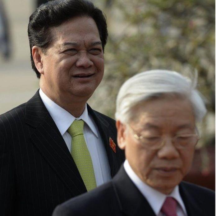 Hai ông Nguyễn Tấn Dũng và Nguyễn Phú Trọng