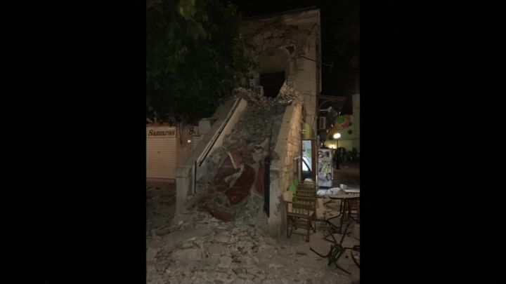 Thumbnail for Strong earthquake kills two on Greek island of Kos