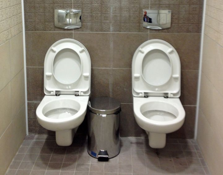 The mysterious case of the double toilet   BBC News. Two In One Toilet Seat. Home Design Ideas