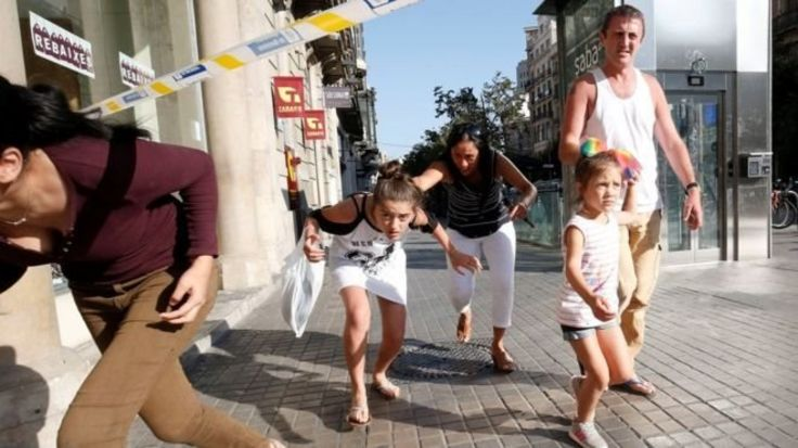 کودکان در حمله بارسلون
