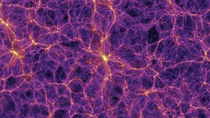 Художественное изображение темной материи во Вселенной