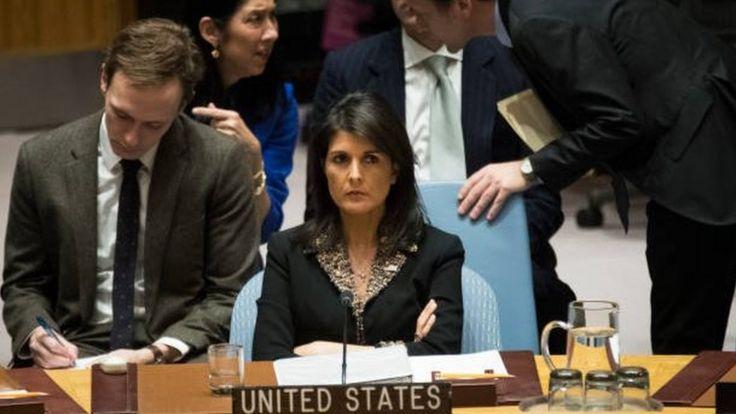نیکی هیلی سفیر آمریکا در سازمان ملل متحد ایران را متهم کرد که مانند گذشته همه چیز را به گردن خارجی ها می اندازند