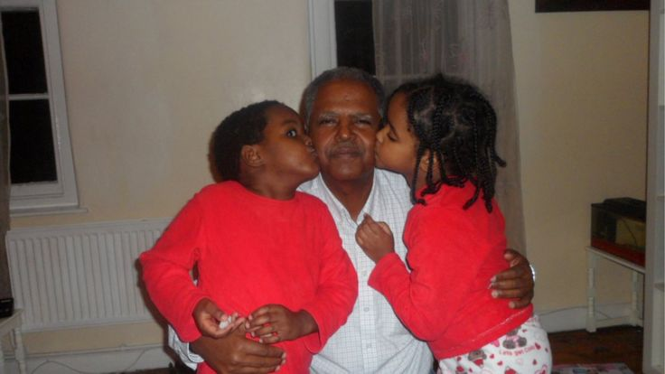 Andy Tsege and his children