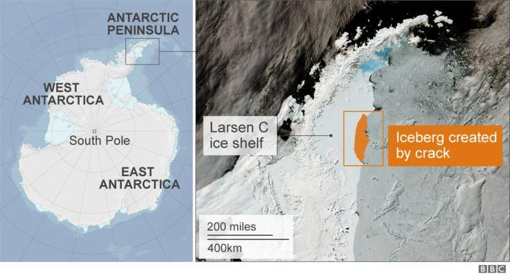 Location of the Larsen C iceshelf