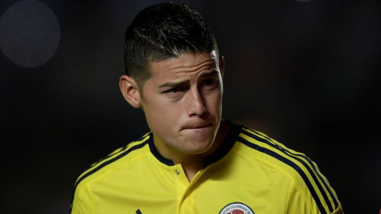 James con la selección de Colombia
