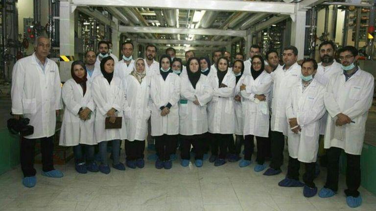 بازدید خبرنگاران از تاسیسات هسته ای ایران