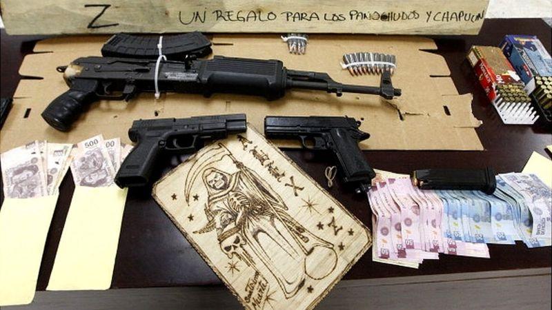 Material incautado al cartel de Los Zetas