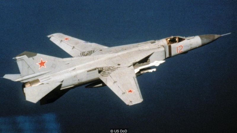 Rust's plane was intercepted by a MiG-23, a swing-wing Soviet fighter - but the pilot's report was ignored