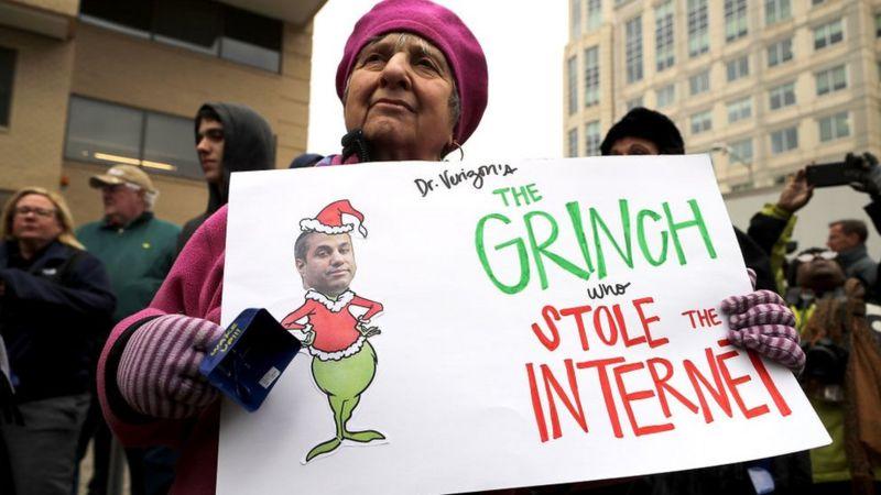 Protesta a favor de la neutralidad de la red