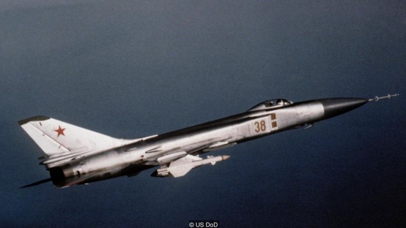 In 1983, a Soviet Su-15 fighter shot down a South Korean airliner, killing 269 people