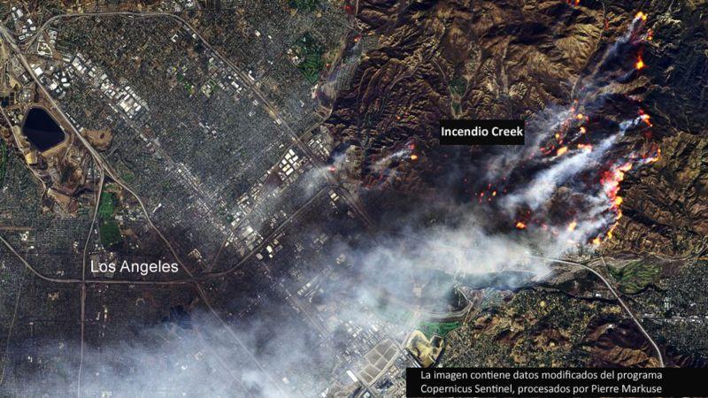 Situación de incendios en California.