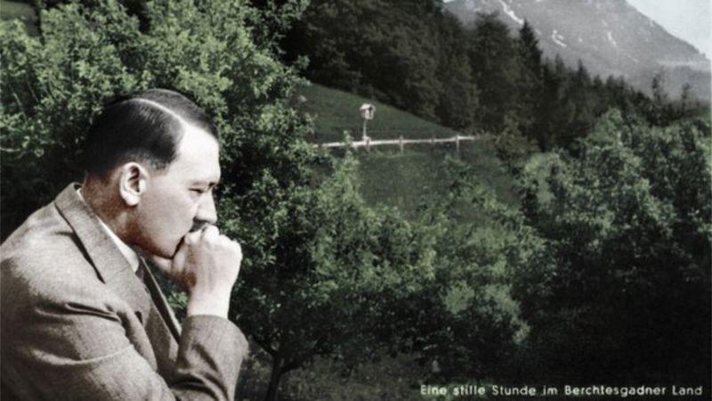 Hitler looking pensive
