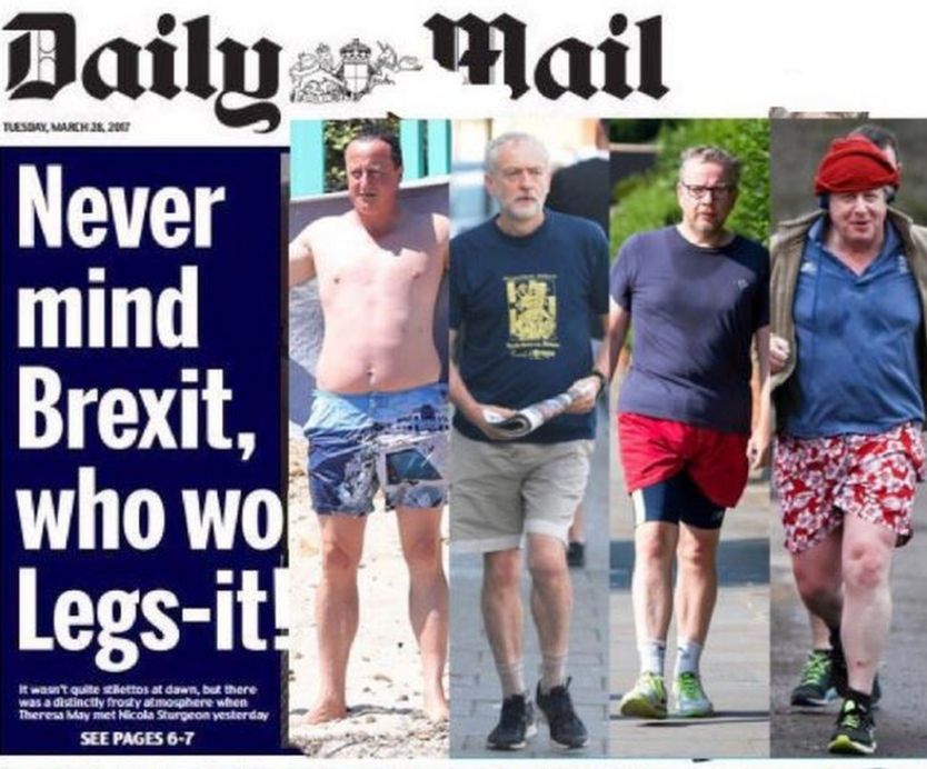 Spoof Daily Mail front page