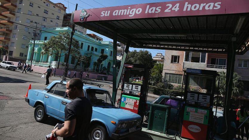 Estación de gasolina en La Habana