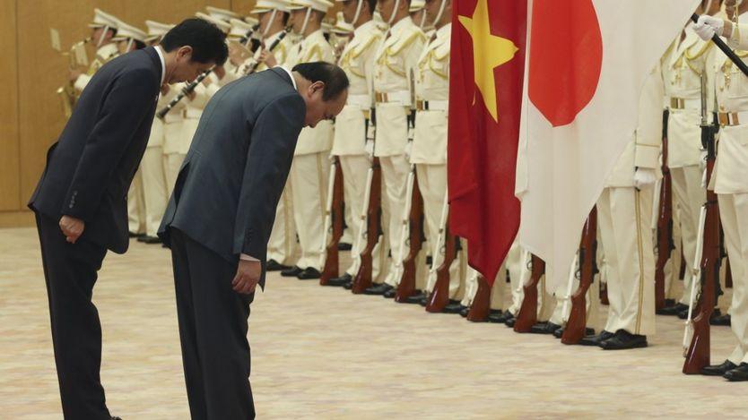 Hai ông Shinzo Abe và Nguyễn Xuân Phúc