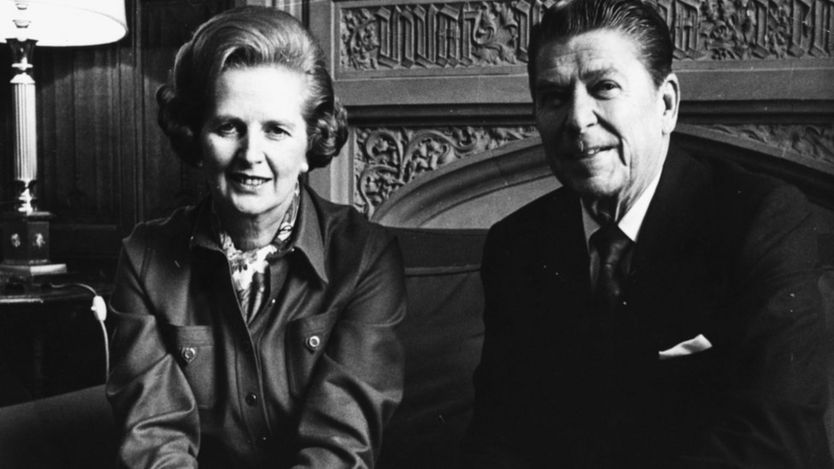 Thủ tướng Margaret Tharcher và Tổng thống Ronald Reagan