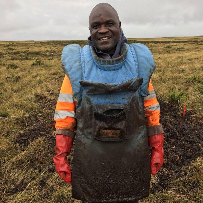 Zimbabwean deminer Farai Beghede