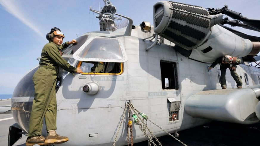 US CH-53E helicopter