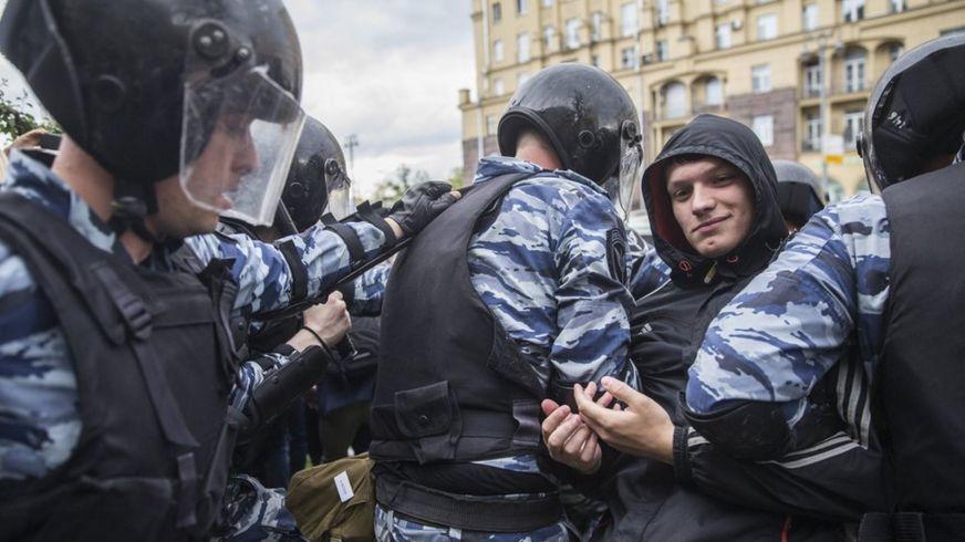 Задержание на Тверской
