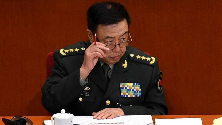 Tướng Phạm Trường Long của Trung Quốc trong một phiên họp Quốc hội Trung Quốc