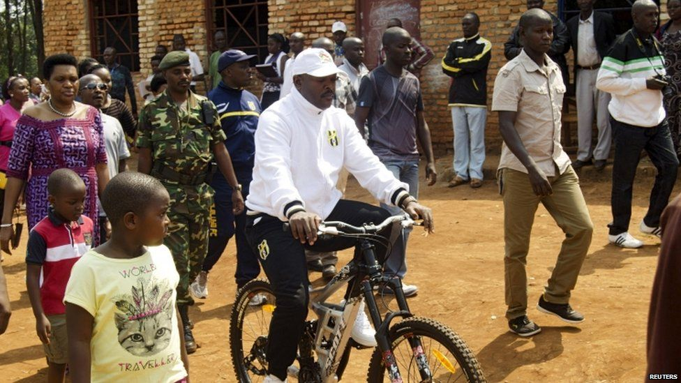 President Pierre Nkurunziza after voting in parliamentary elections in June, 29 June