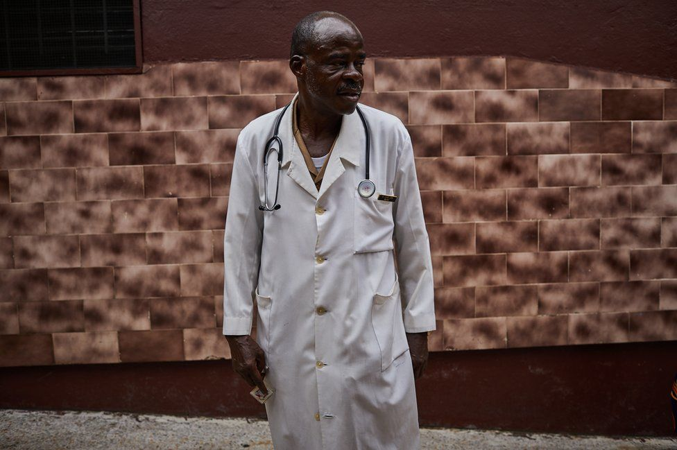 A doctor at the West Point medical clinic.