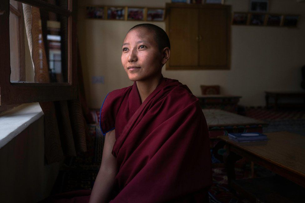 Tsering Kunzom was seven when she decided to become a nun